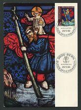 Svizzera MK 1969 904 ARTE CHIESA DIPINTO Maximum cartolina MAXIMUM CARD MC cm d452