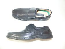 FARAH loafers size uk 10 black leather mens shoes