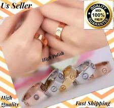 3DAYS SALE ONLY! DON'T MISS OUT! Gold Silver Rose Ring Screw Love Band Men women
