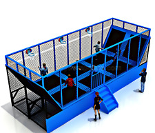 480 sqft Commercial Trampoline Park Dodgeball Climb Gym Inflatable We Finance