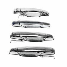 Chrome Door Handle 4PCS for Chevy Tahoe GMC Yukon Sierra Denali 07-13 Front Rear