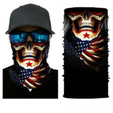 Face Mask Shield Gaiter SKULL U.S. FLAG Washable Reusable US Shipping IN STOCK
