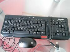 Microsoft Set USB Tastatur Wired Keyboard 600 + Logitech B100 USB Laser-Maus 800