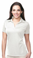 Tri-Mountain Women's Polyester Short Sleeve V-Neck Collar Polo T-Shirt. KL411