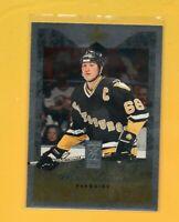 0305 1995-96 Donruss Elite Die Cuts Uncut  #66 Mario Lemieux PENGUINS BK$31.25