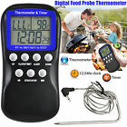 Digital Probe Thermometer LCD Kitchen Oven Food Cooking BBQ Wine Meat Poultry