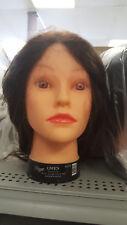 "Cosmetology Diane GWEN Manikin Mannequin 18""- 22"" BROWN HAIR HEAD 100% HUMAN"
