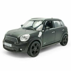 1:36 Mini Cooper S Countryman Model Car Diecast Toy Vehicle Black Kids Gift
