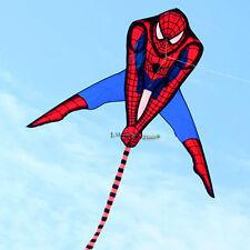 HOT SALE 90x135cm Spiderman Kite Single Line Outdoor fun Sports Toys kites