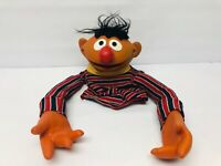 Vintage Ernie Hand Puppet VERY USED LOVED CONDITION Sesame Street Hard Face