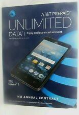 NEW UNLOCKED AT&T Prepaid - ZTE Maven 2 4G LTE with 8GB Memory Cell Phone