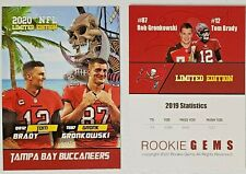 Tom Brady/ Rob Gronk Gronkowski Tampa Bay Buccaneers 2020 Rookie Gems Custom