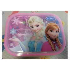 Disney Frozen Anna Elsa Lunch Box Bag Stainless Bento Food Tray Child Kids