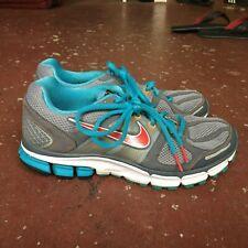 Women Nike Flywire Pegasus 28 N7 Running Shoe Sz 9 Brey Blue Red Tennis