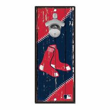 MLB Boston Red Sox Baseball Bottle Opener Wood Sign Holzschild Holz Wandschmuck