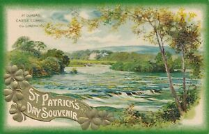 ST. PATRICK'S DAY - At Dundas Castle Connel County Limerick Winsch Postcard