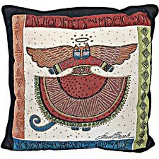 Laurel Burch Christmas Decor Angelicat Angel Cat Tapestry 18 inch Throw Pillow