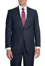 $300 Izod Classic Fit Blue Pinstriped 2 Button Suit with Pleated Pants 48R 42W