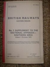 BR (ER) SUPPLEMENT TO SECTIONAL APPENDIX (SOUTHERN AREA)1/10/1972