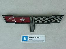 1980 C3 Corvette Rear Deck Fuel Door-Gas Lid Emblem - GM Licensed Reproduction