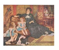 Mme. Charpentier & Her Children By Renoir French Art Print 1960  Free Shipping