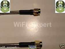 1 x RP-SMA Male to RP SMA Male Plug Pigtail flexible Cable RG405 4-36 INCHES US