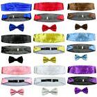 Set Men's Adjustable Pleated Solid Color Design Cummerbund Bowtie Pre Tied LJYFH