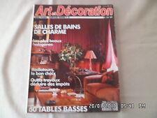 ART ET DECORATION N°297 10-11/1990 SALLES DE BAINS DE CHARME TABLES BASSES   D56