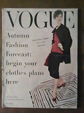 ***VINTAGE VOGUE MAGAZINE August 15th 1955 Horst P Horst photos