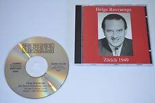 Helge Rosvaenge - Zürich 1949 / Preiser Records 2000 / MONO / Rar
