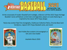 2021 Topps Heritage Baseball Inserts - In Action | World Series | Leaders + More