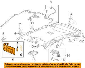 Chevrolet GM OEM 11-15 Cruze Sunvisor-Sun Visor Left 95034253