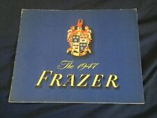 1947 1948 Frazer Large Prestige Color Brochure  Catalogue Prospekt