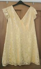 Dorothy Perkins Lemon Lace Dress Size 20