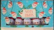 Set di 10 alta qualità Colorata Retrò Vintage Stile Babbo Natale Lucine LED 2AA