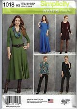 NEW Simplicity 1018 Sewing Pattern STRETCH KNIT DRESS Tunic Pants Cowl OUTFIT