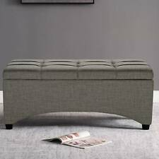 New listing Storage Ottoman Bench Upholstered Contemporary End of Bed Living Room Hall Entry