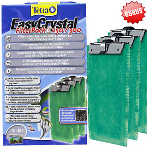 Tetra Easy Crystal Water Fish Tank Filter Carbon Replacement Cartridge 3 Pack