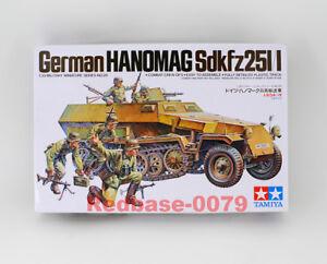 Tamiya 35020 WWII 1/35 German Hanomag Sdkfz251/1 Armored Plastic Military Model