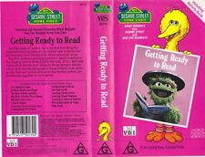 ABC~SESAME STREET GETTING READY TO READ  VIDEO VHS PAL