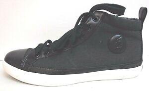 Polo Ralph Lauren Size 8 Black Hi Top Sneakers New Mens Shoes