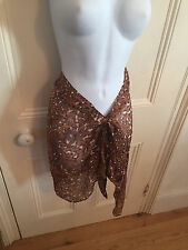 Gottex Collection - Into the Wild Brown Bandeau Dress/Skirt 100% Silk - (NWT)