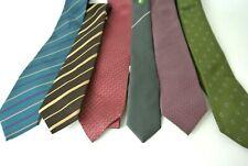 Men's Assorted Set Multi-Color Neck Dress Ties Ties Lot Of 6 #1008 Designer bran