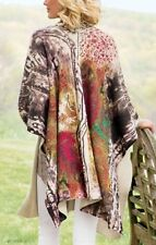 Soft Surroundings Artsy Lagenlook Tunic Wrap Cardigan O/S (L, XL, 0X, 1X) NEW!
