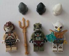 LEGO ® Legends of Chima ™ 3 personnages Laval crocenburg Eris accessoires neuf figures New