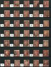SG43/4 PENNY PLATES COLLECTION (PLATES 71 - 203) - ALL USED (108 STAMPS)