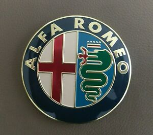 ALFA ROMEO emblem 74 mm Gold ALUMINIUM BADGE EMBLEM 147 156, 159,166