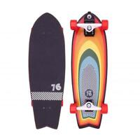 "Z-Flex Surfskate Surf-a-gogo Fish Complete Skateboard 31"", Rainbow"