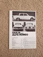 Giulia Super Alfa Romeo Foreign Dealer Sales Brochure