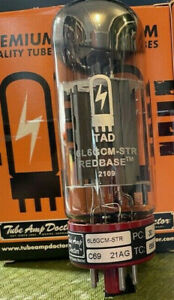 Factory Matched QUAD Tube Amp Doctor TAD 6L6 6L6GC 6L6GCM-STR REDBASE